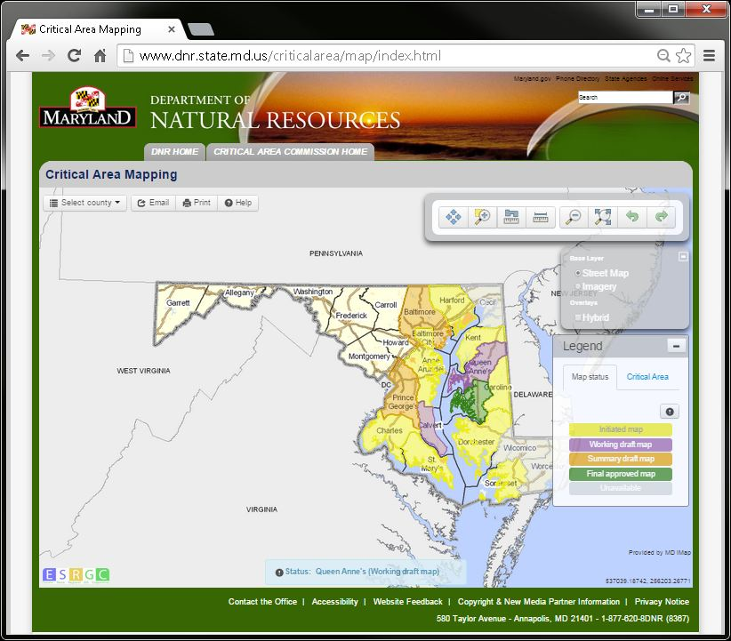 Maryland Critical Area Mapping Update